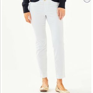 NWT Lilly Pulitzer Kelly Pants In Resort White